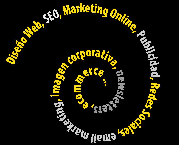 Diseño de páginas web, tiendas online, redes sociales, email marketing, SEO